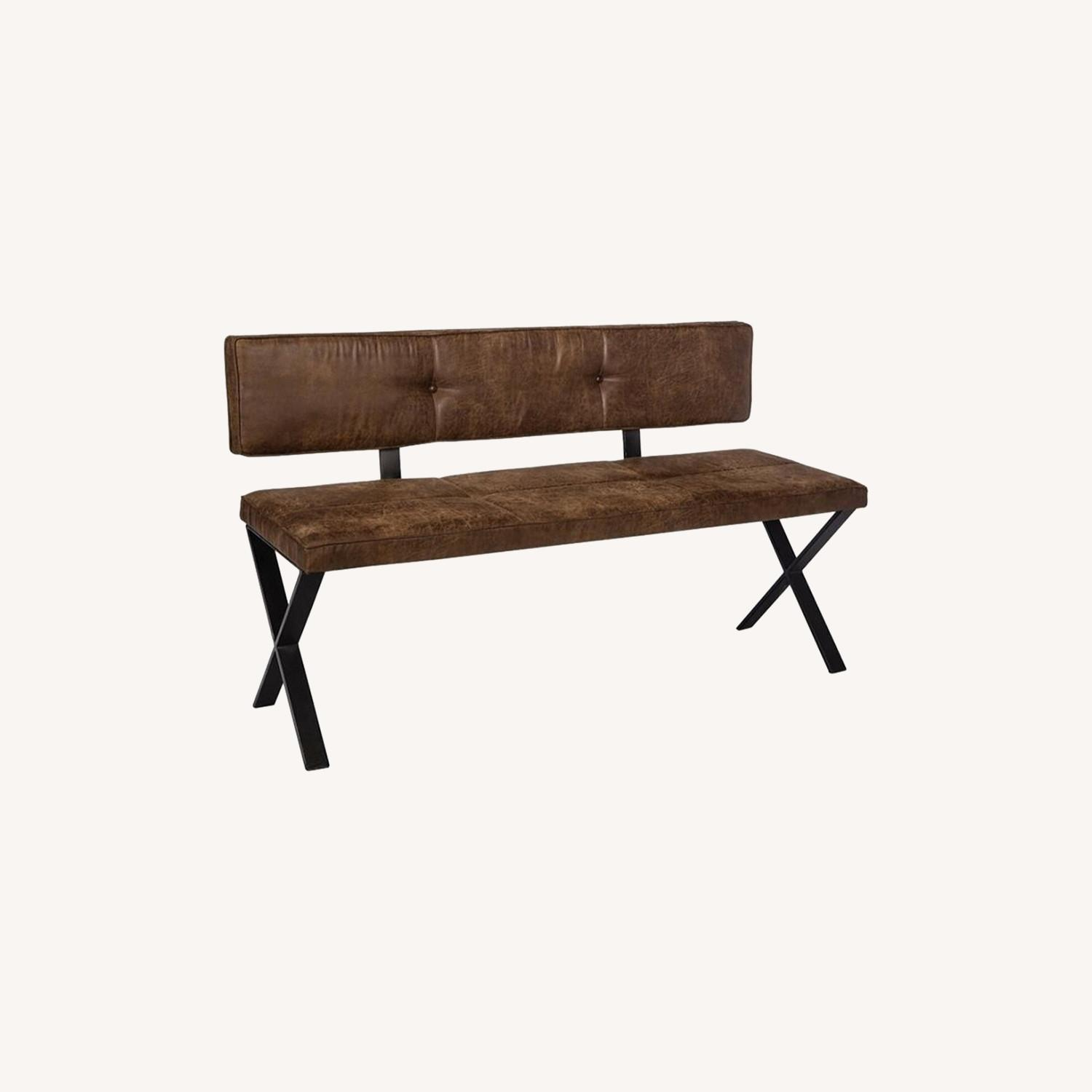 Casual-Looking Dining Bench in Antique Brown - image-3