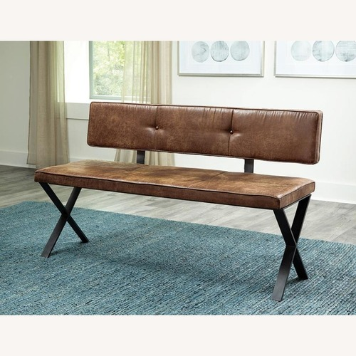 Used Casual-Looking Dining Bench in Antique Brown for sale on AptDeco