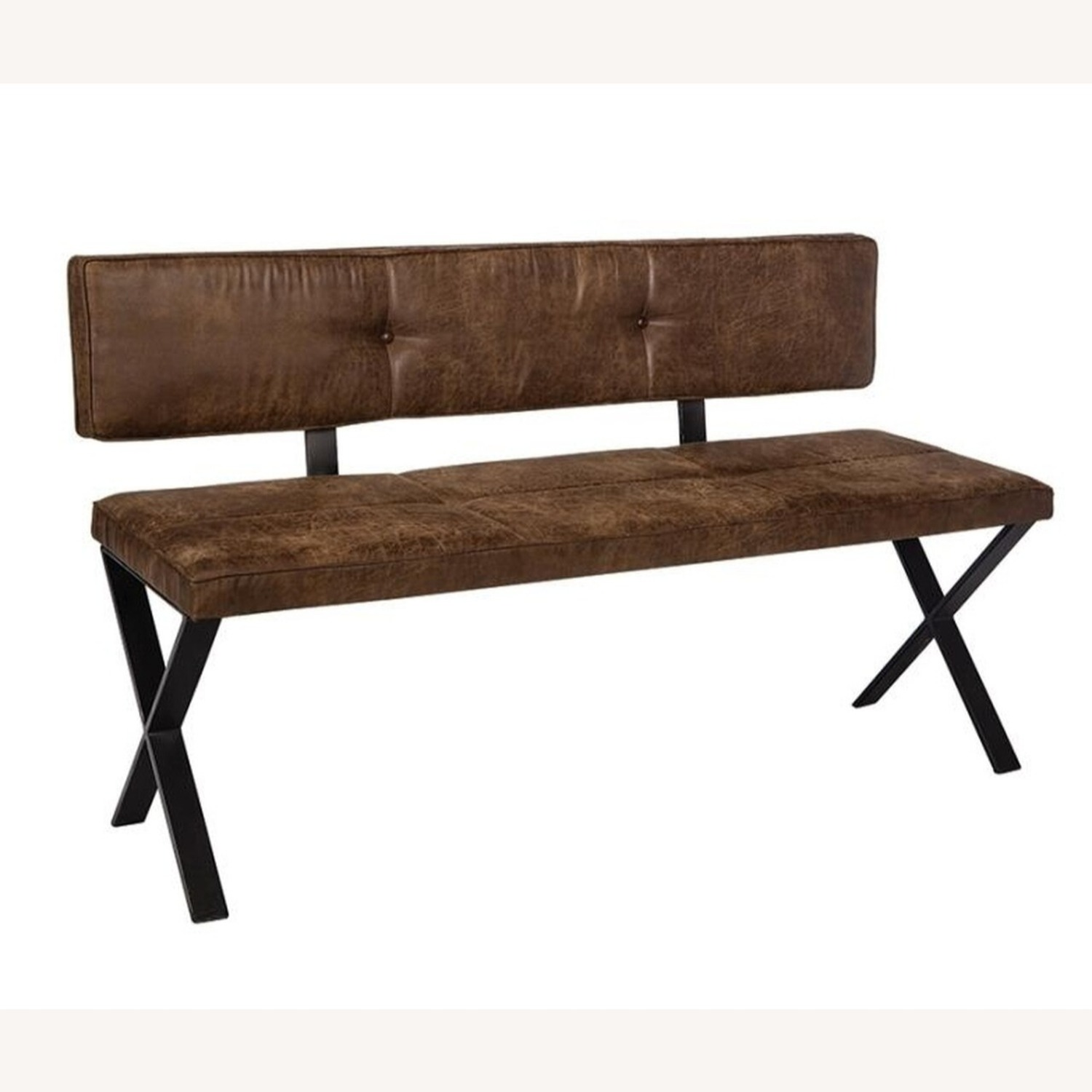 Casual-Looking Dining Bench in Antique Brown - image-0
