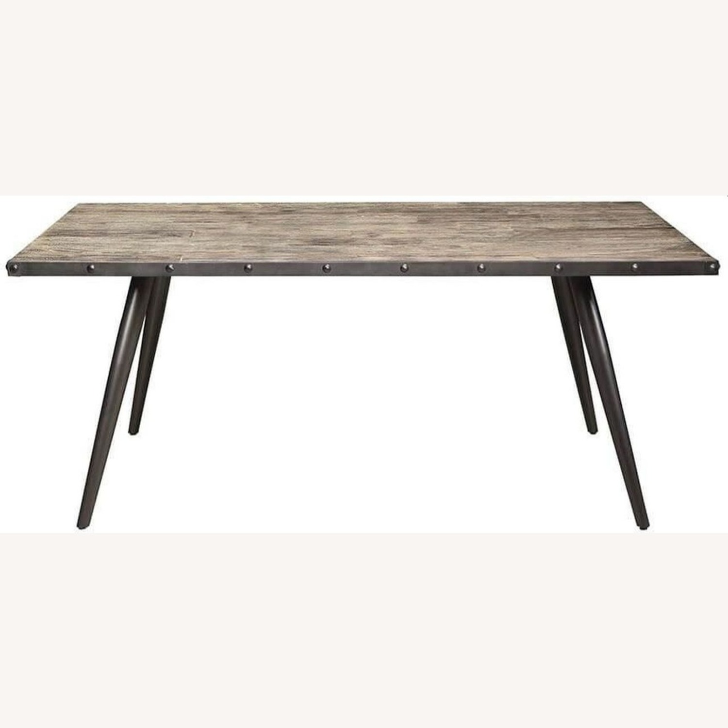 Mid-Century Dining Table Made From Weathered Elm - image-1