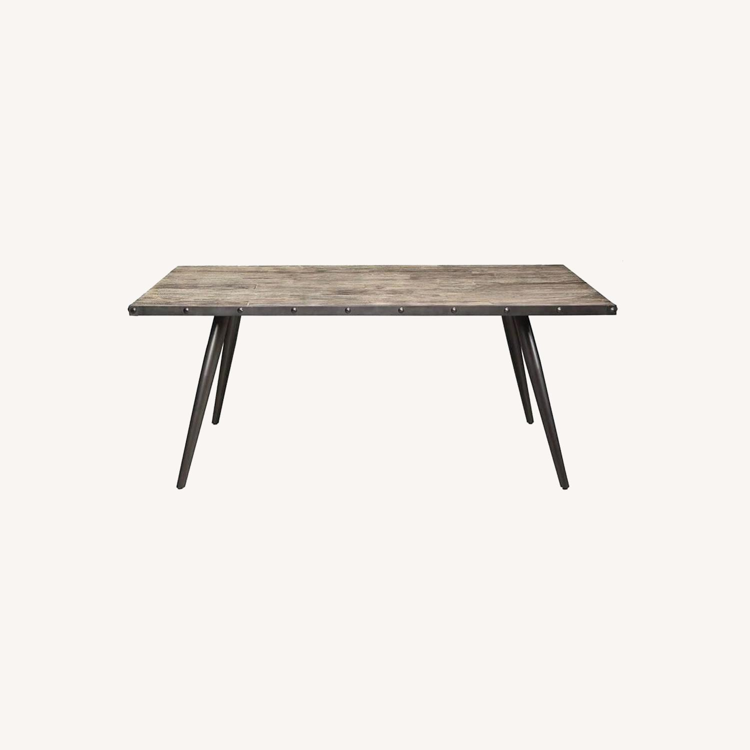 Mid-Century Dining Table Made From Weathered Elm - image-3