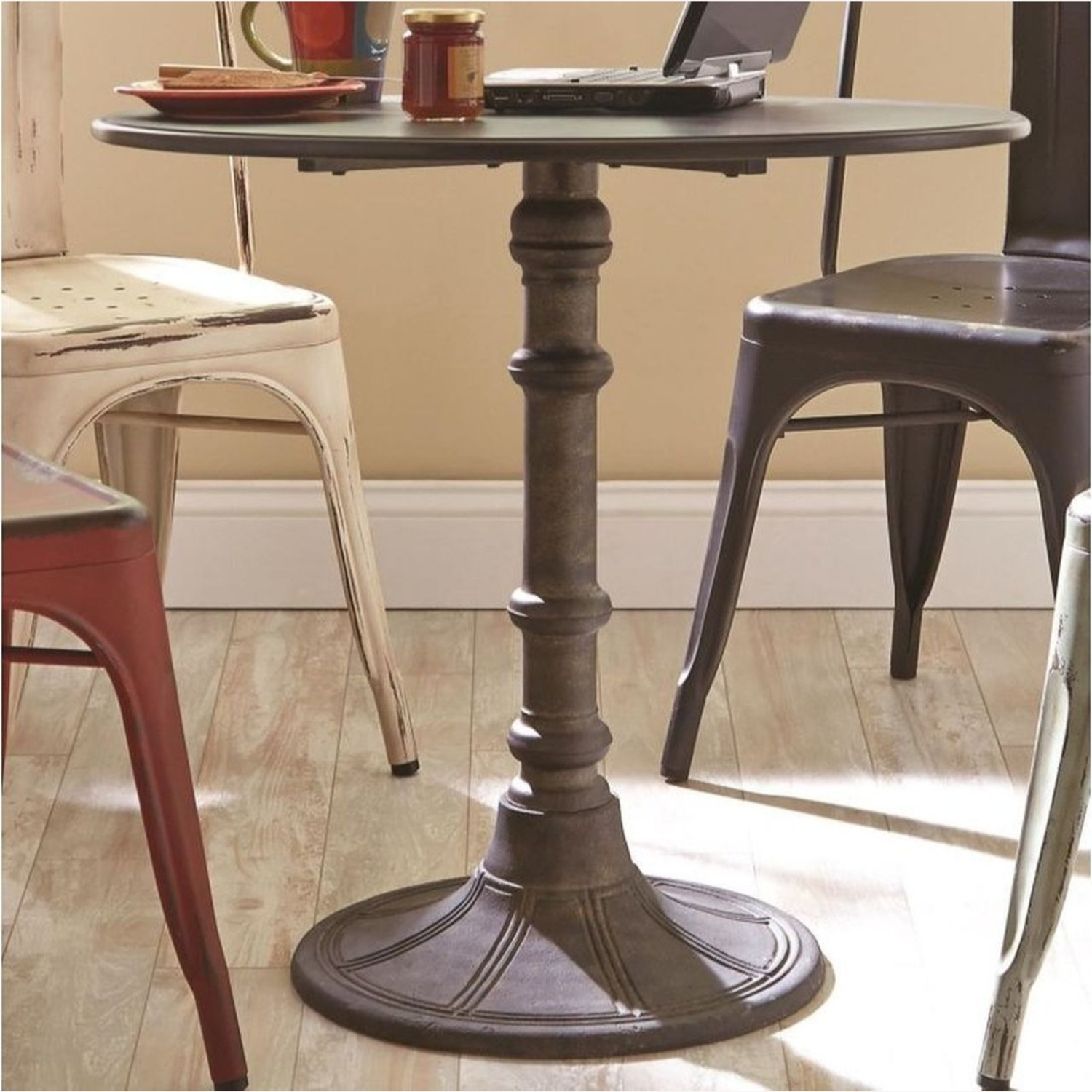 Beautiful Dining Table In Antique Bronze Finish - image-1