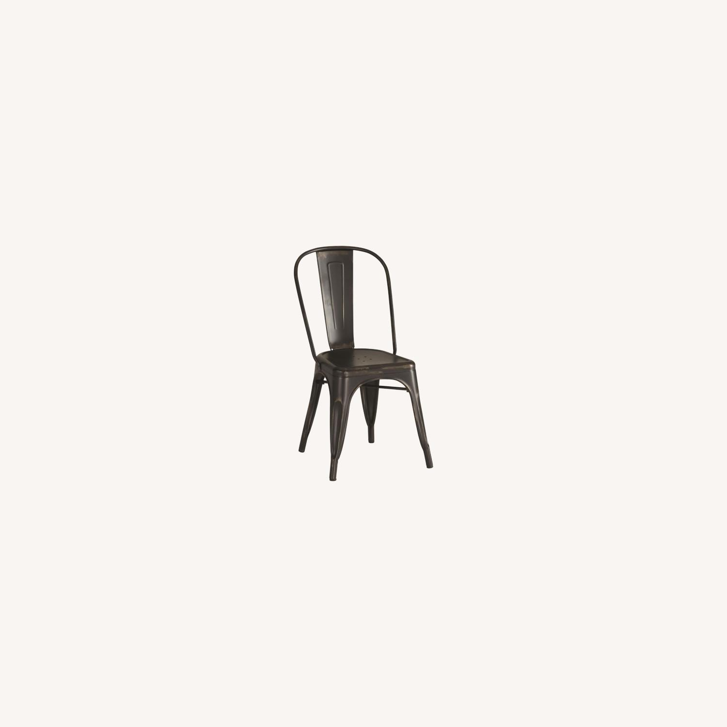 Charming Dining Chair In Black Metal - image-4