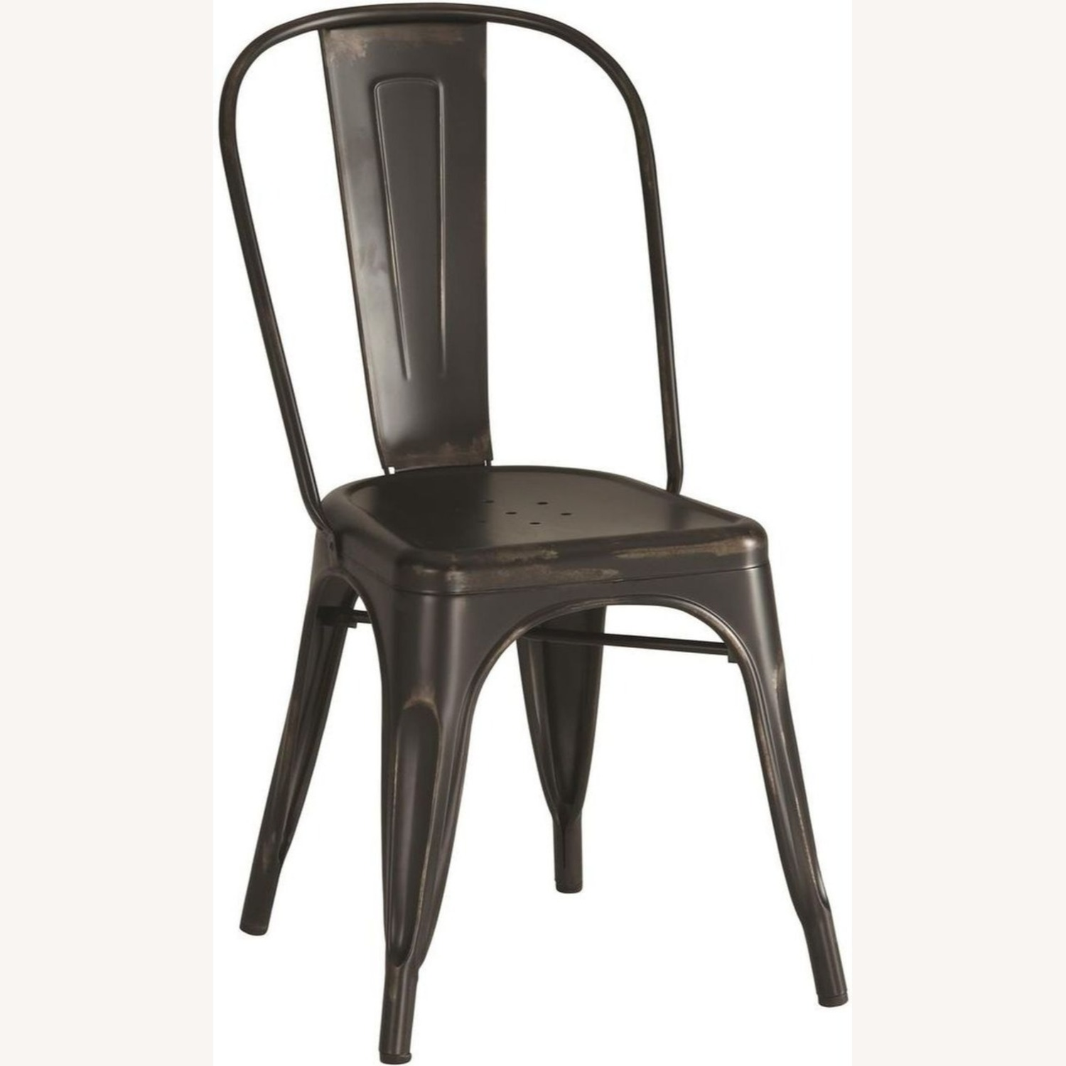 Charming Dining Chair In Black Metal - image-0
