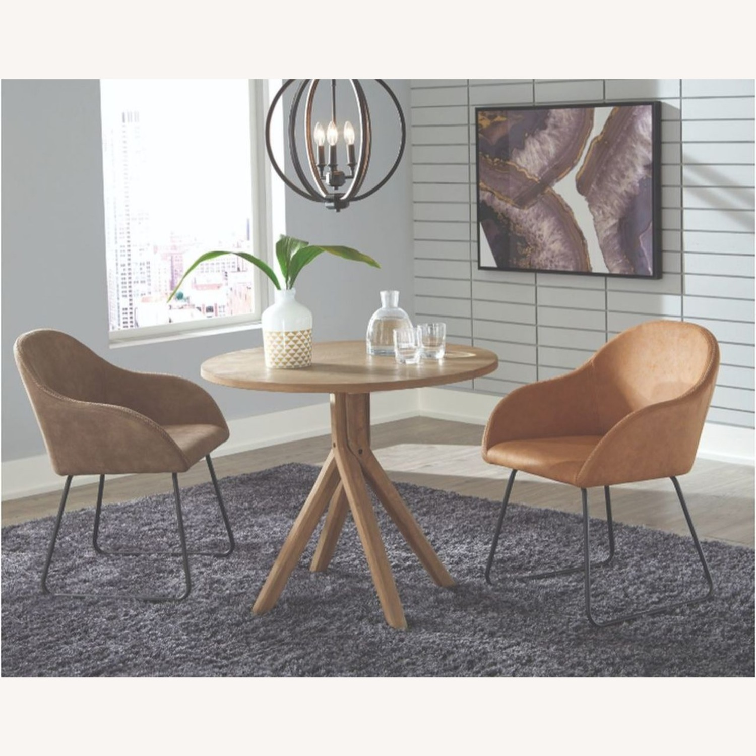 Classic Round Dining Table In Solid White Oak - image-2