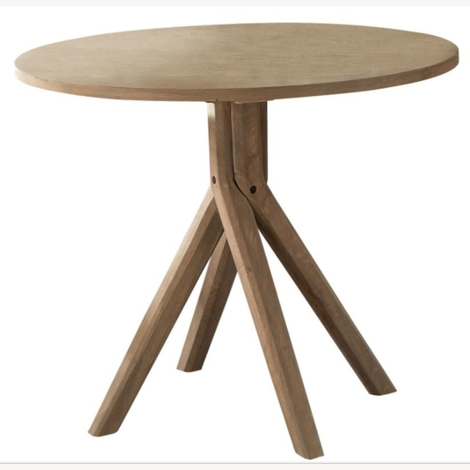 Classic Round Dining Table In Solid White Oak - image-0
