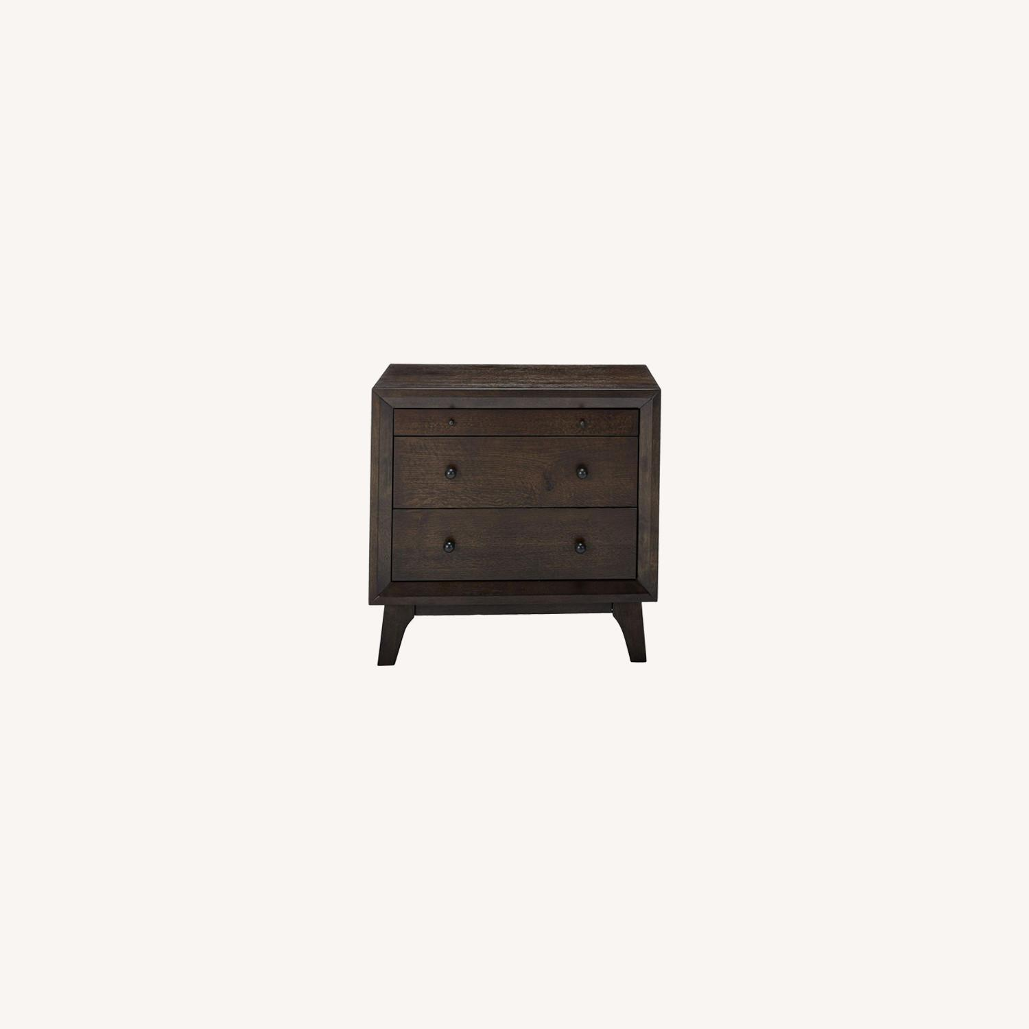 Retro Nightstand Finished In Brown Oak  - image-4