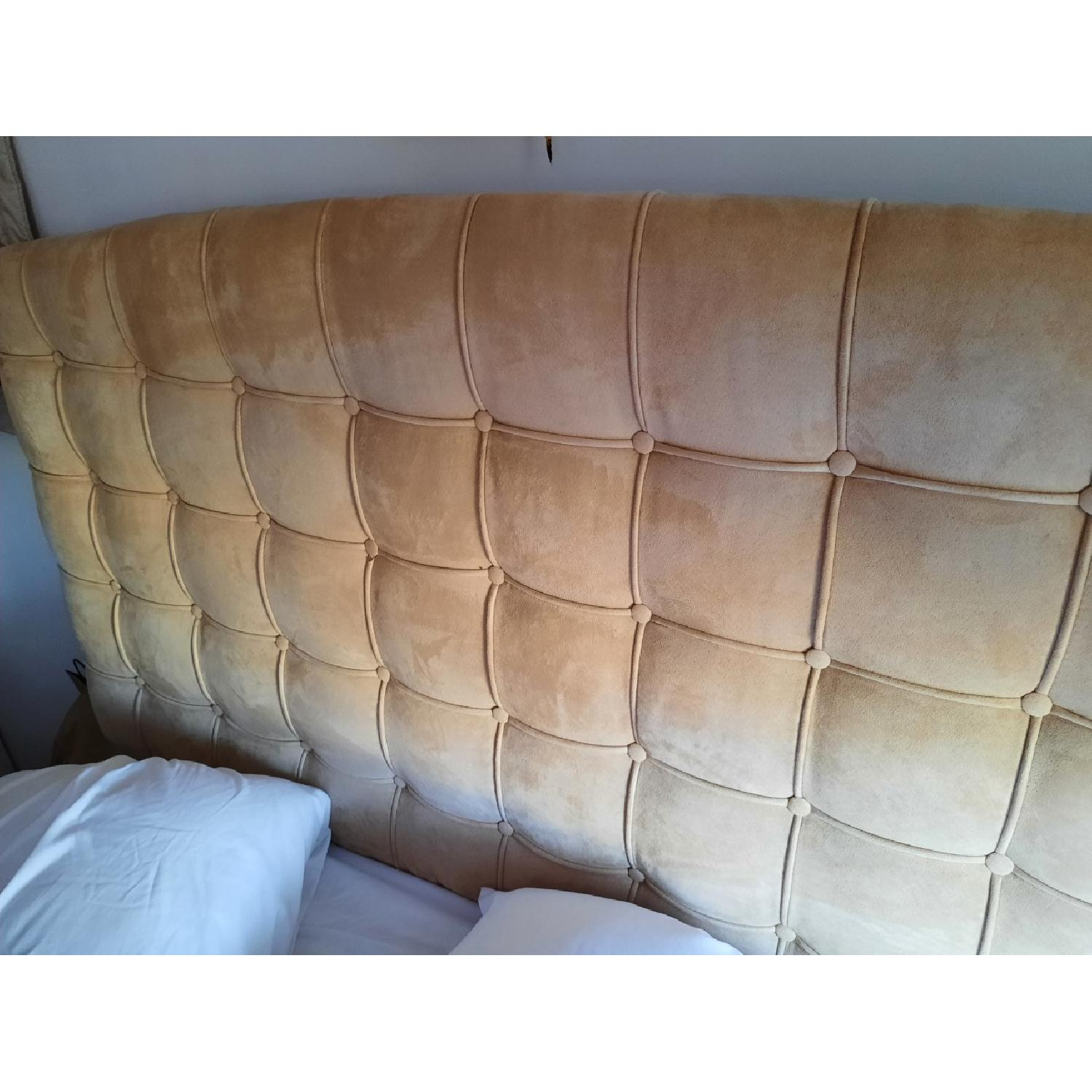 Annabel Tufted Button Headboard w/ Platform included - image-5