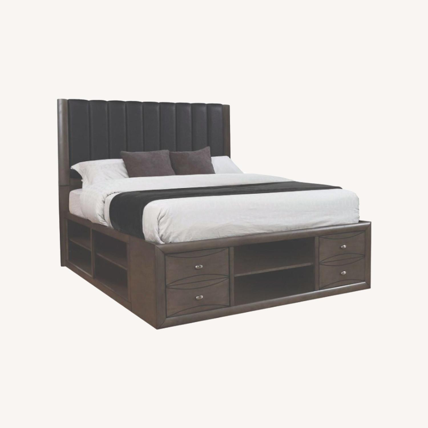 Queen Bed In A Coco Grey Finish - image-3