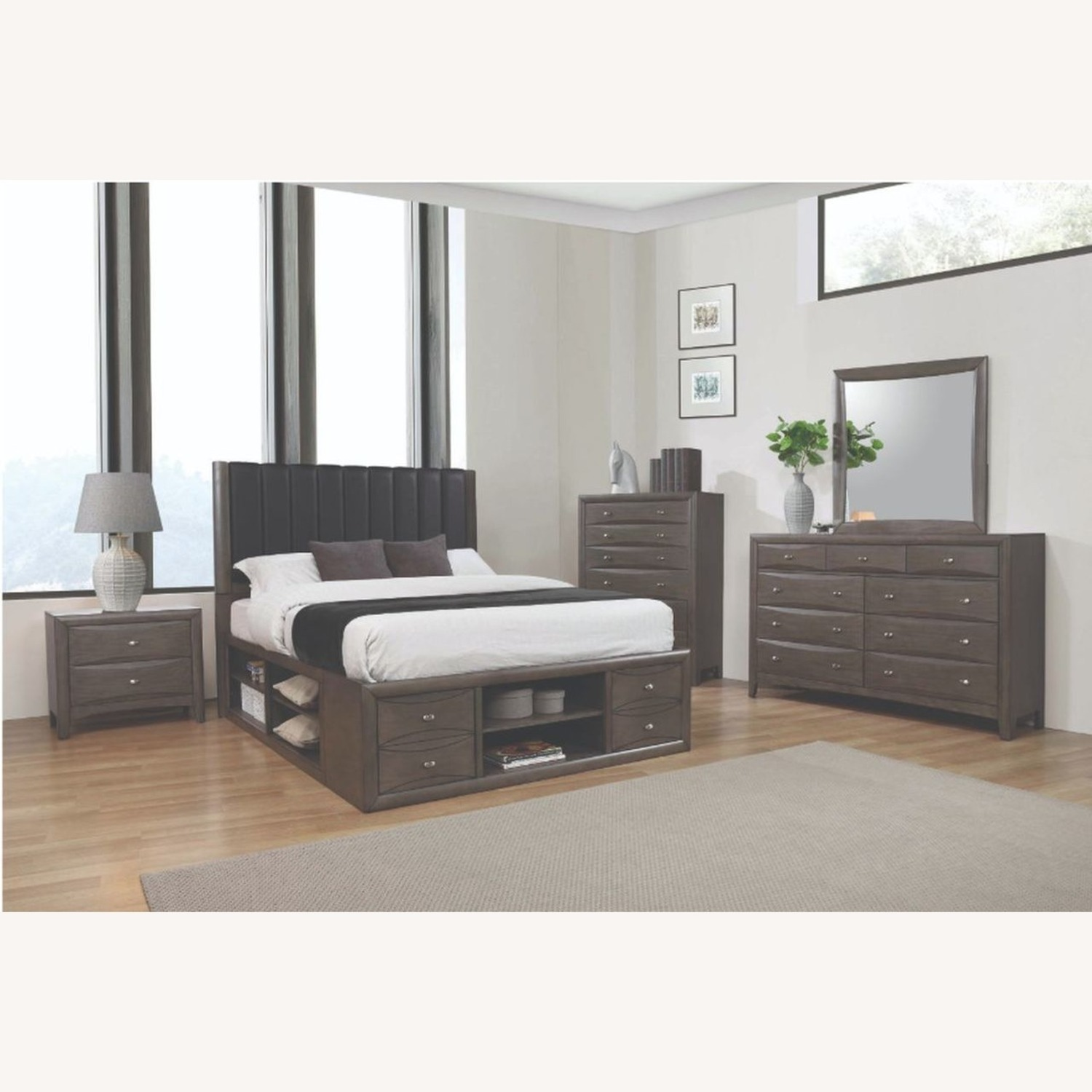 Queen Bed In A Coco Grey Finish - image-2