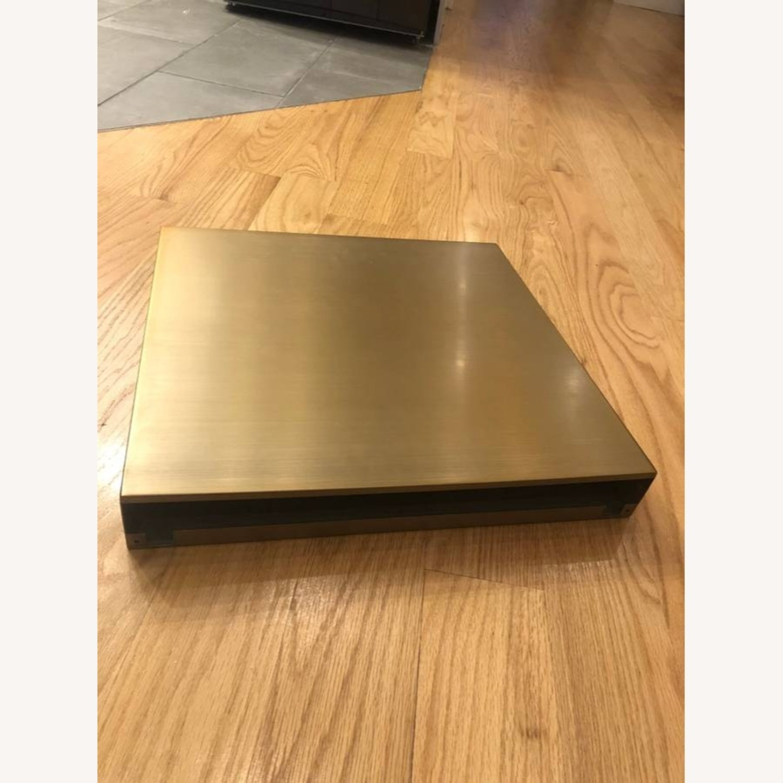 Restoration Hardware Brass Floating Shelf - image-3