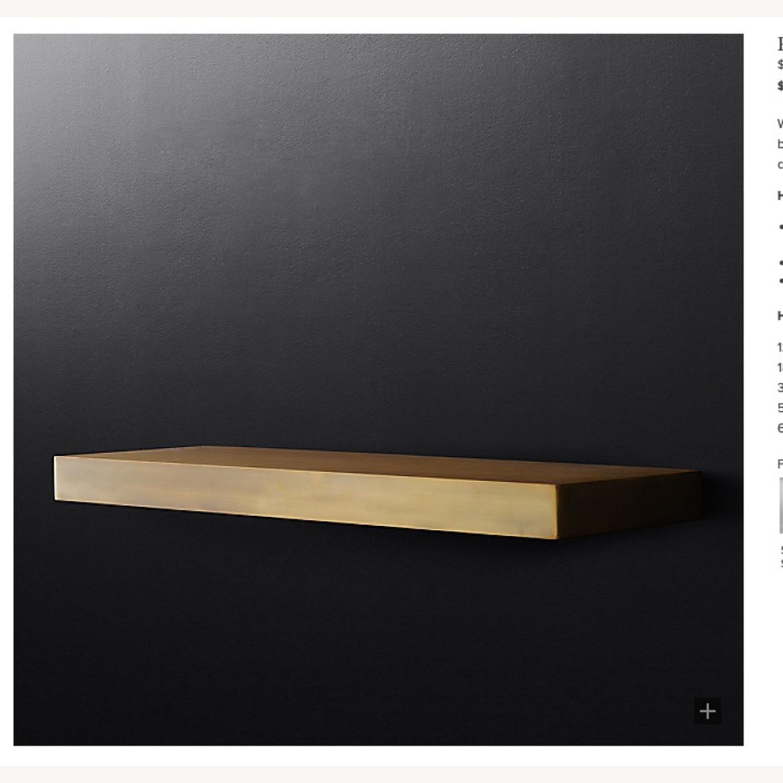 Restoration Hardware Brass Floating Shelf - image-1