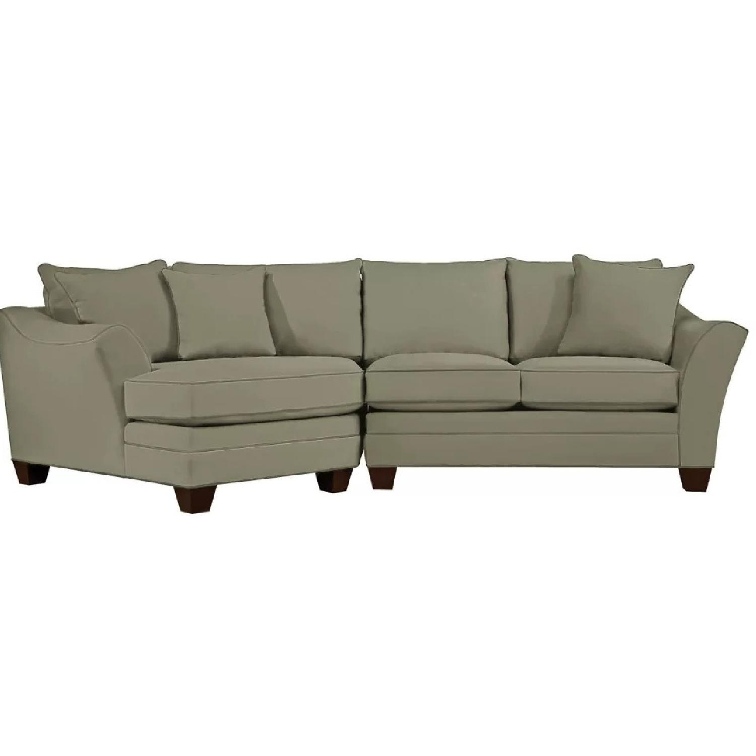 Raymour & Flanigan 2 Piece Sectional w/Cuddler - image-7