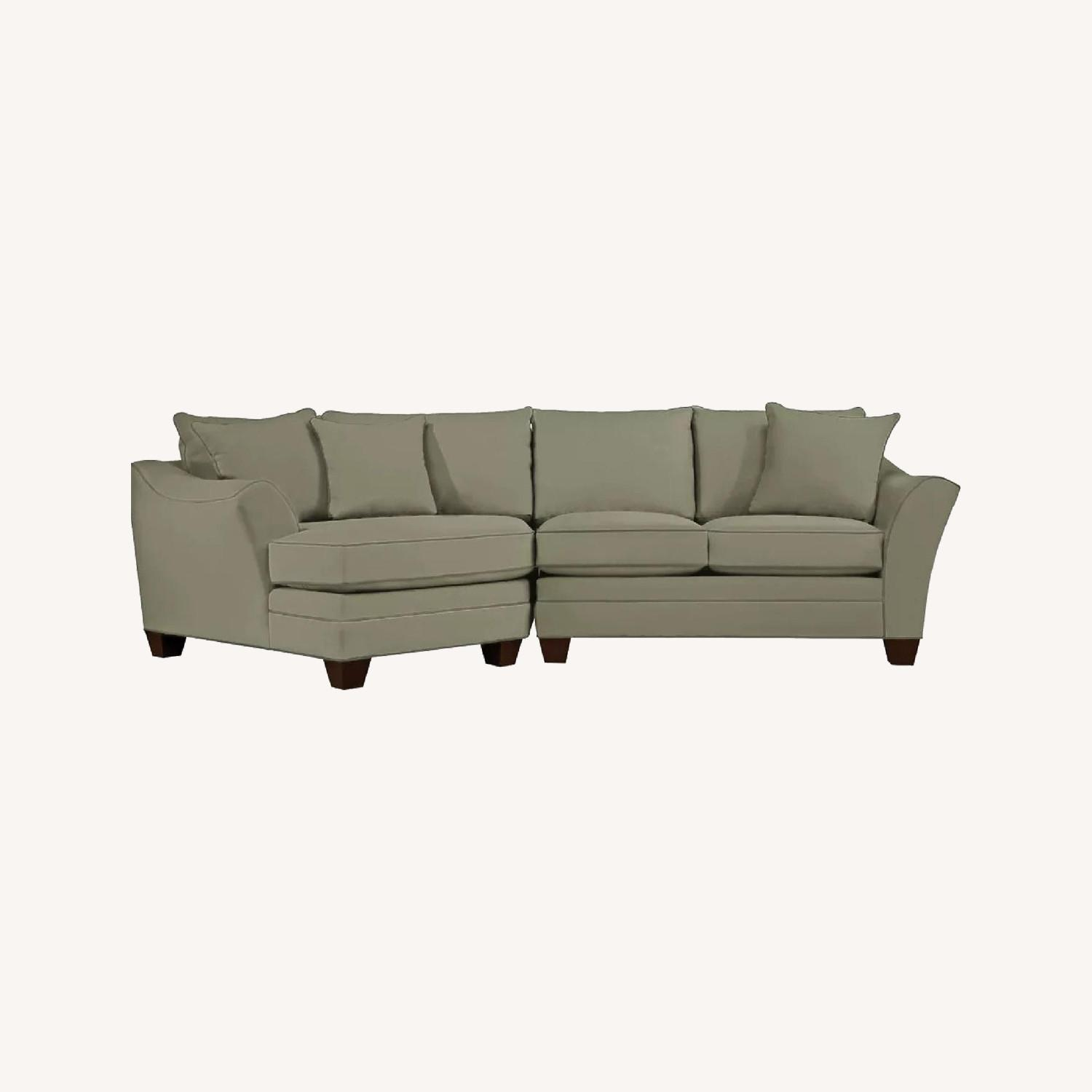 Raymour & Flanigan 2 Piece Sectional w/Cuddler - image-0