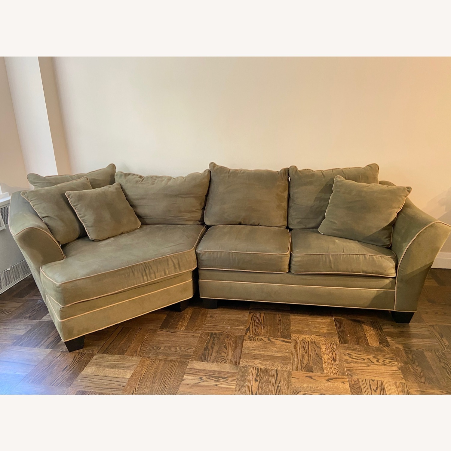 Raymour & Flanigan 2 Piece Sectional w/Cuddler - image-1