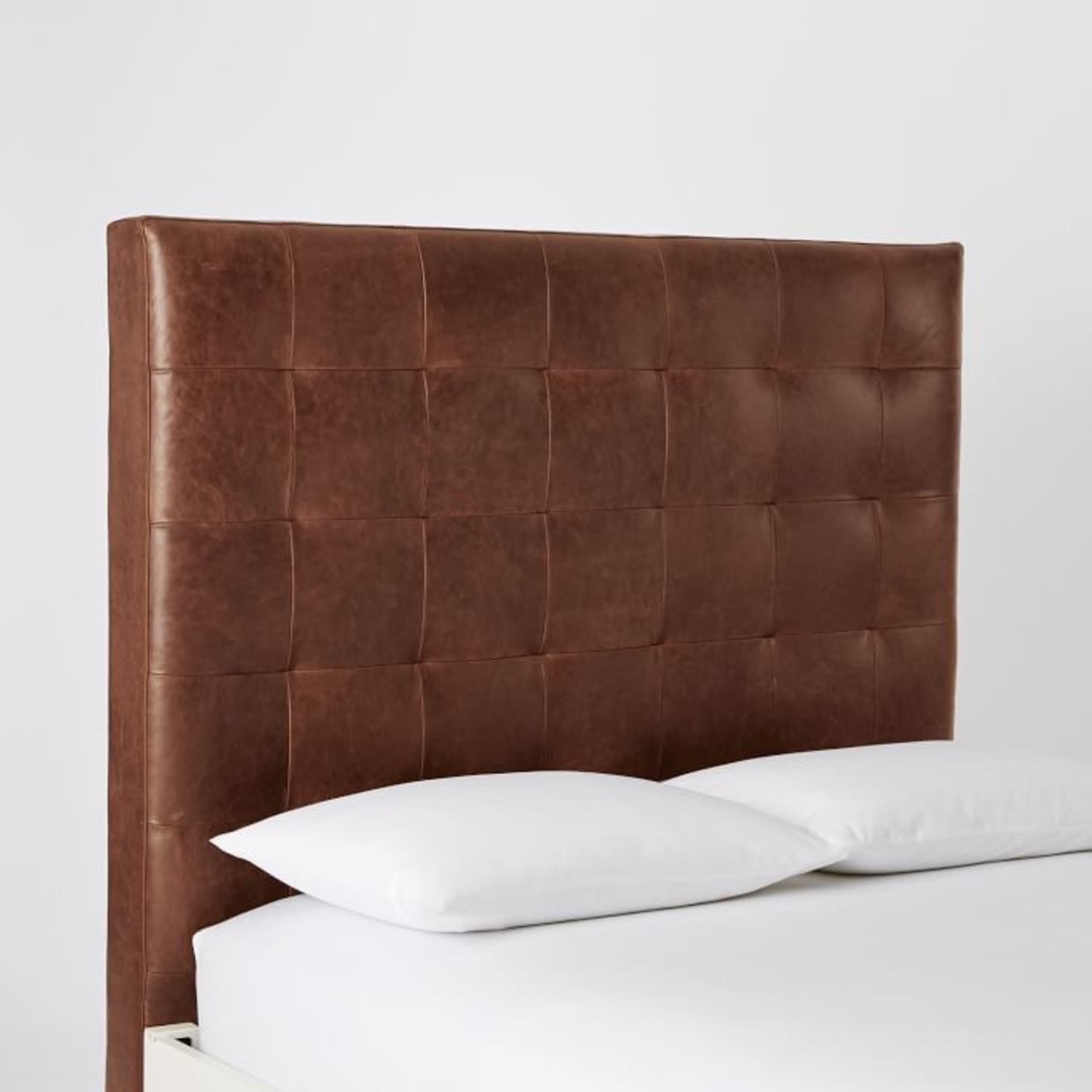 West Elm Leather + Boerum Tall Bed - image-6