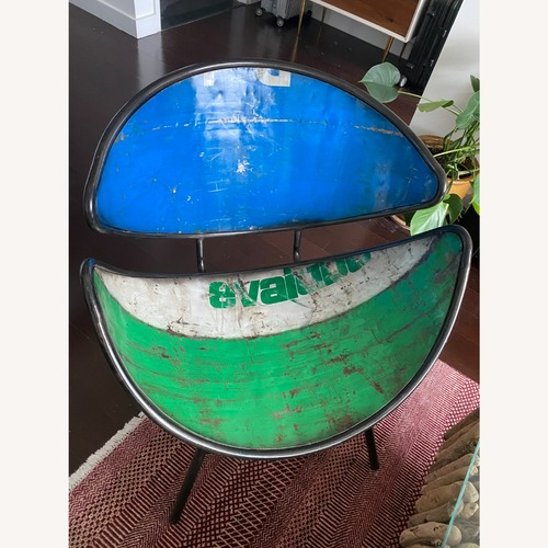 Used From The Source Recycled Oil Drums Armchair for sale on AptDeco