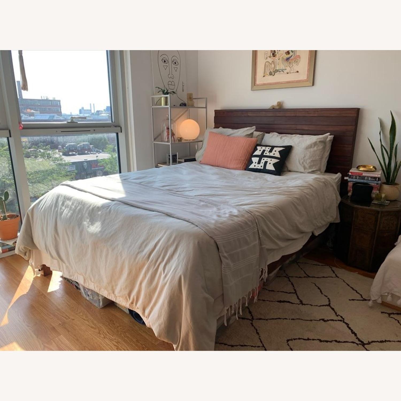 West Elm Queen Wood Bed - image-1