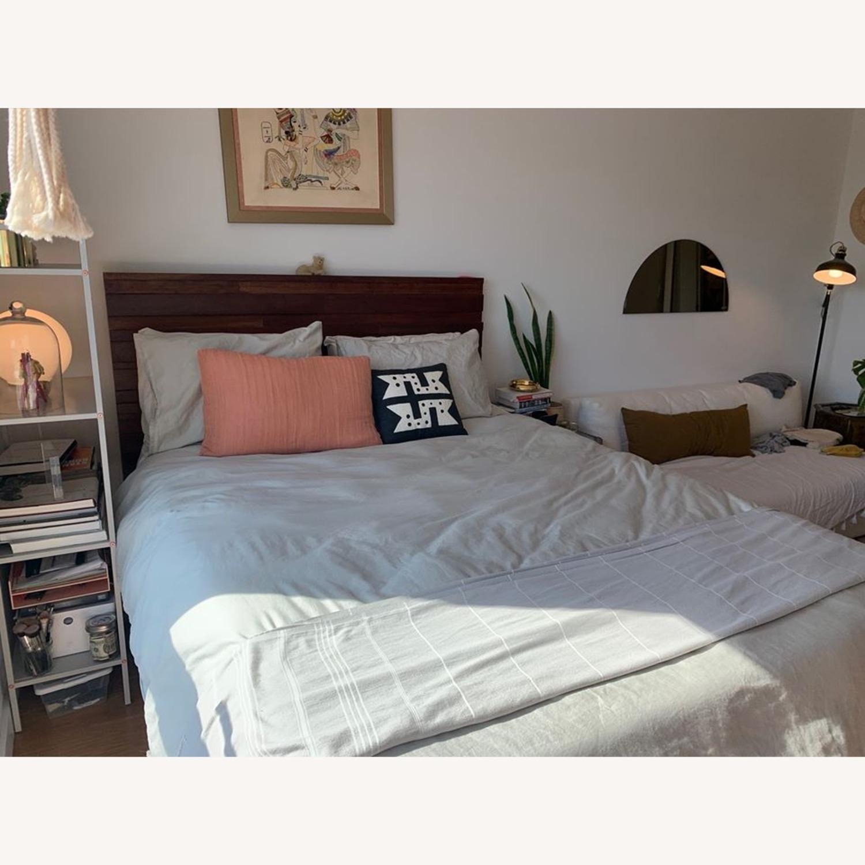 West Elm Queen Wood Bed - image-2