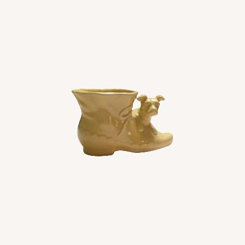 Used Vintage Shawnee Shoe & Dog Planter for sale on AptDeco