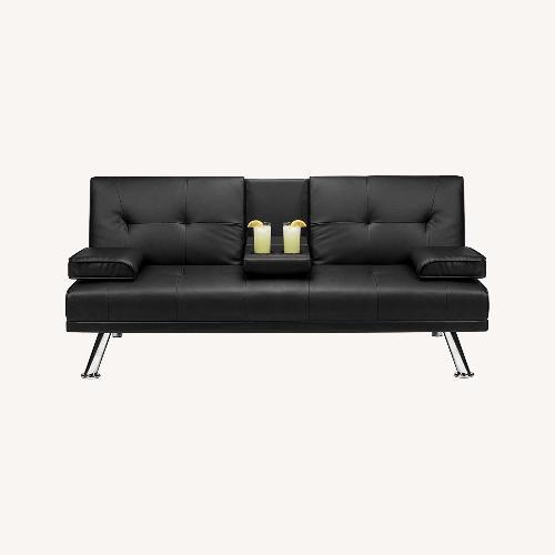 Used Leather Futon Sofa Bed for sale on AptDeco