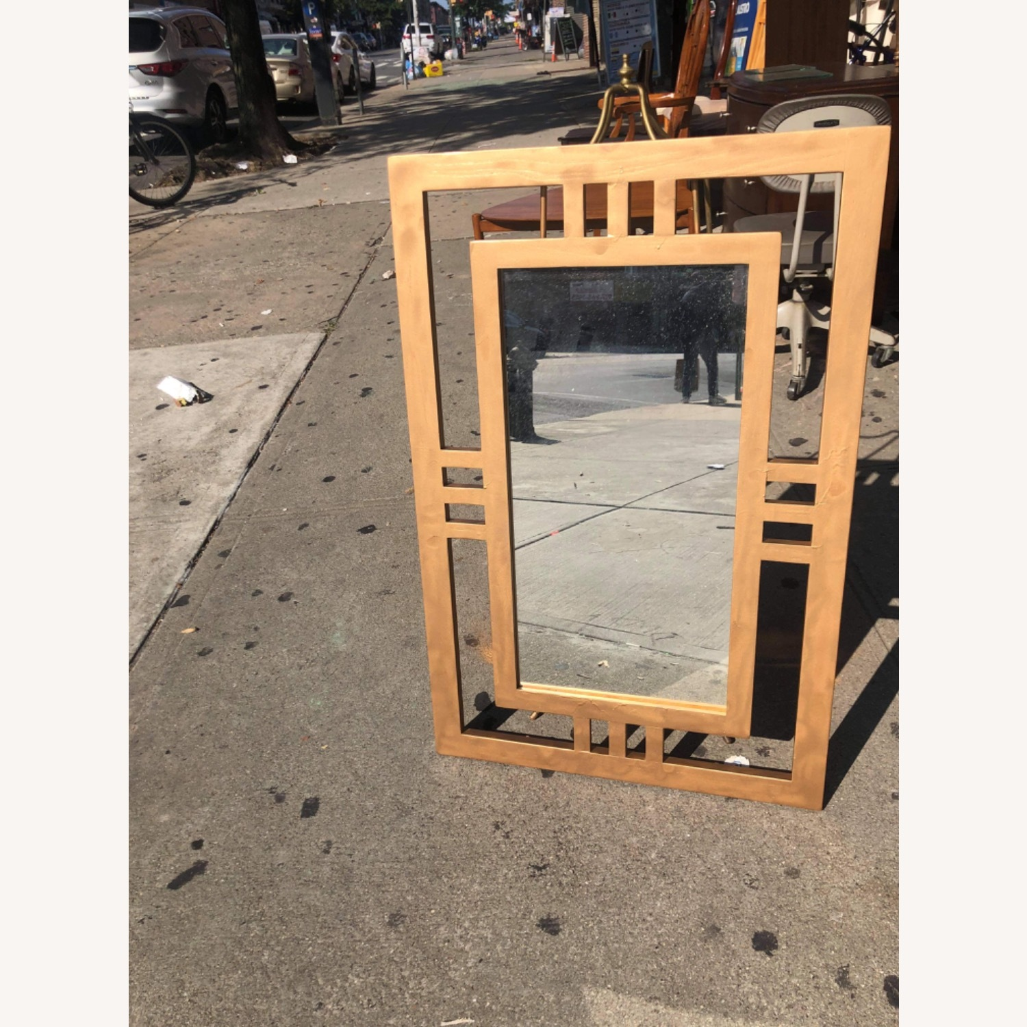 Gold Painted Wooden Framed Mirror  - image-12