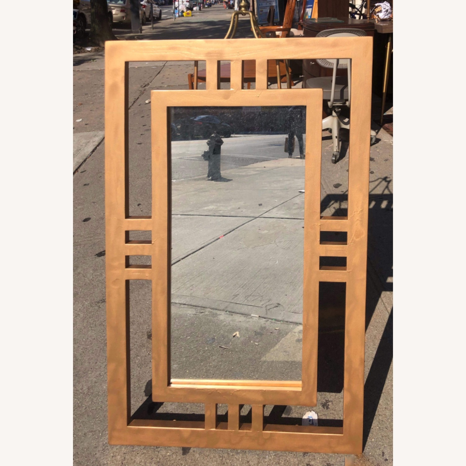 Gold Painted Wooden Framed Mirror  - image-1