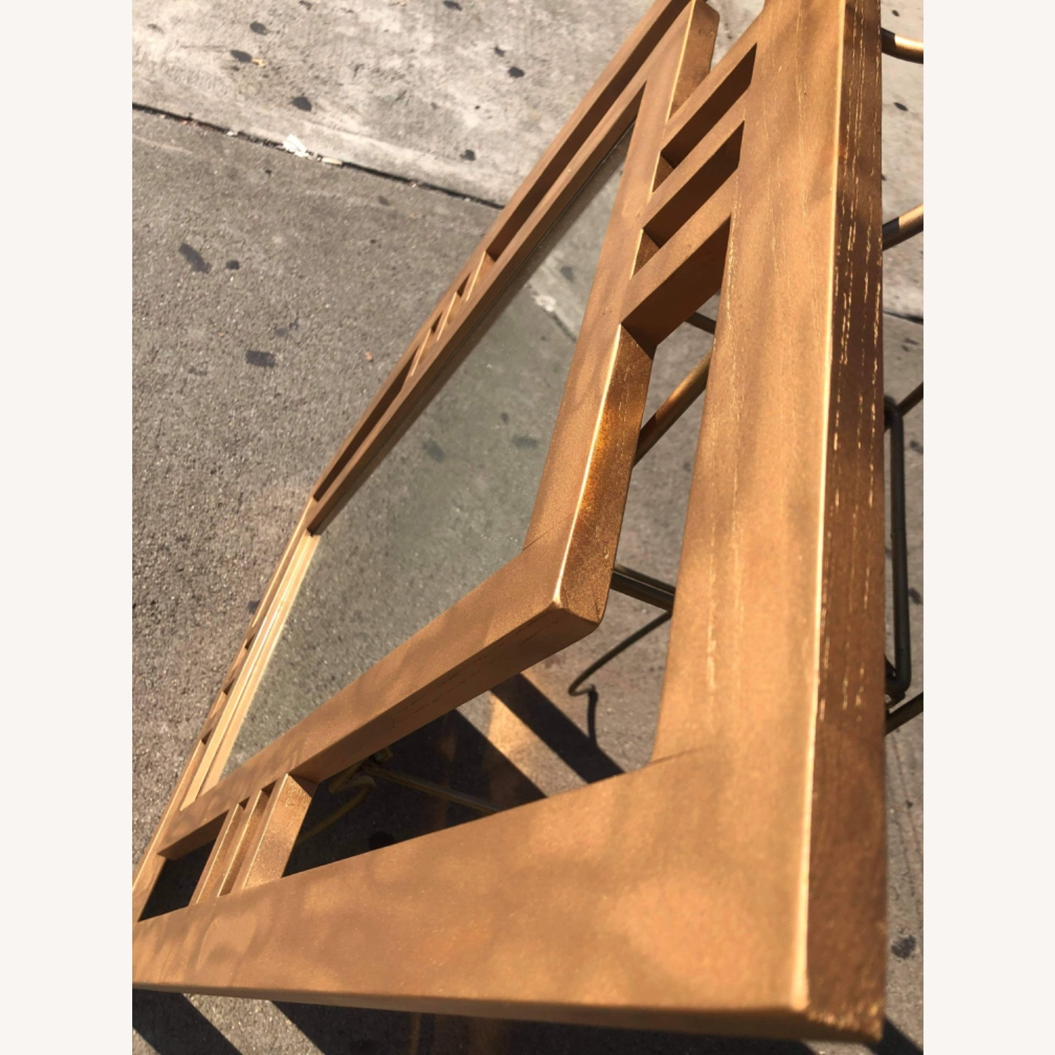 Gold Painted Wooden Framed Mirror  - image-8