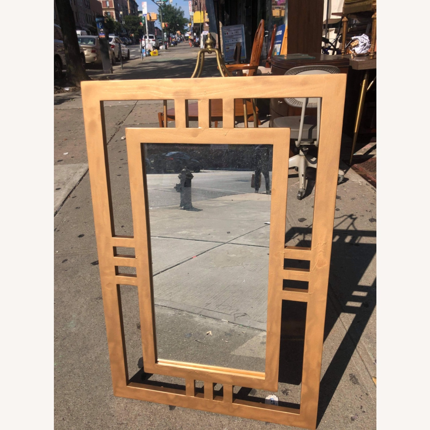 Gold Painted Wooden Framed Mirror  - image-9