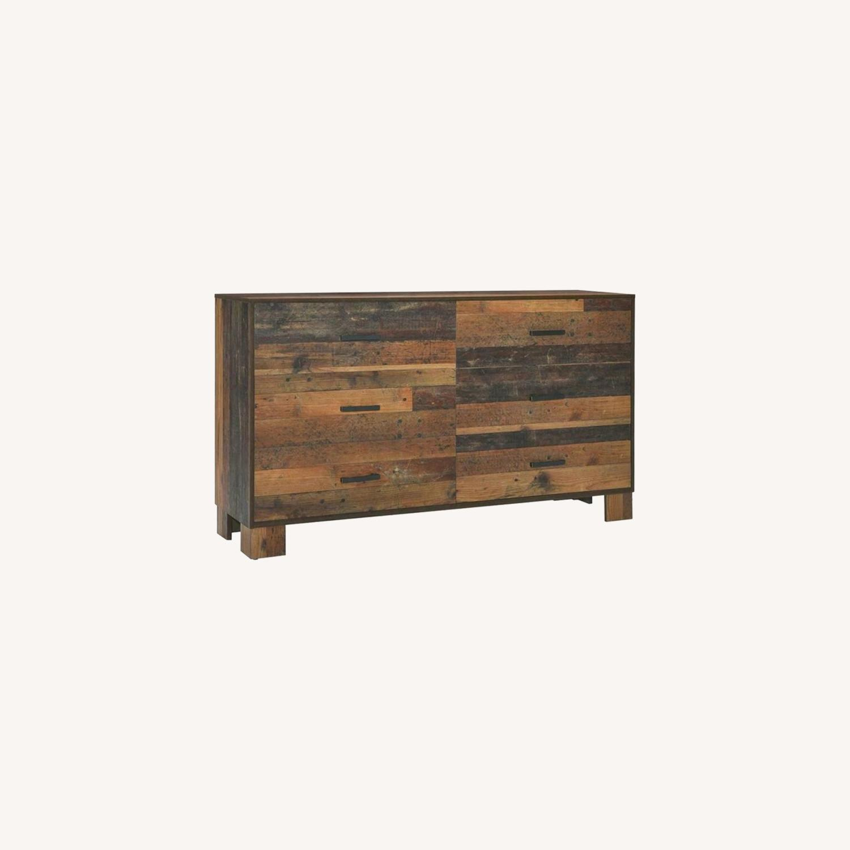 Dresser In Rustic Pine Finish - image-4