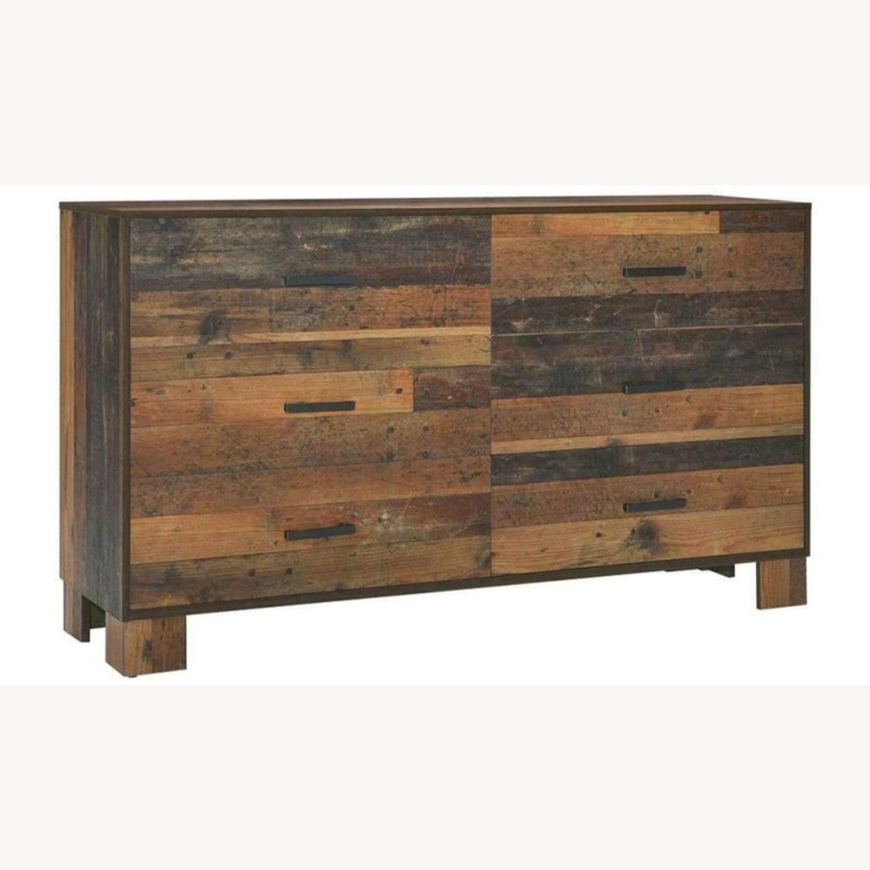Dresser In Rustic Pine Finish - image-0
