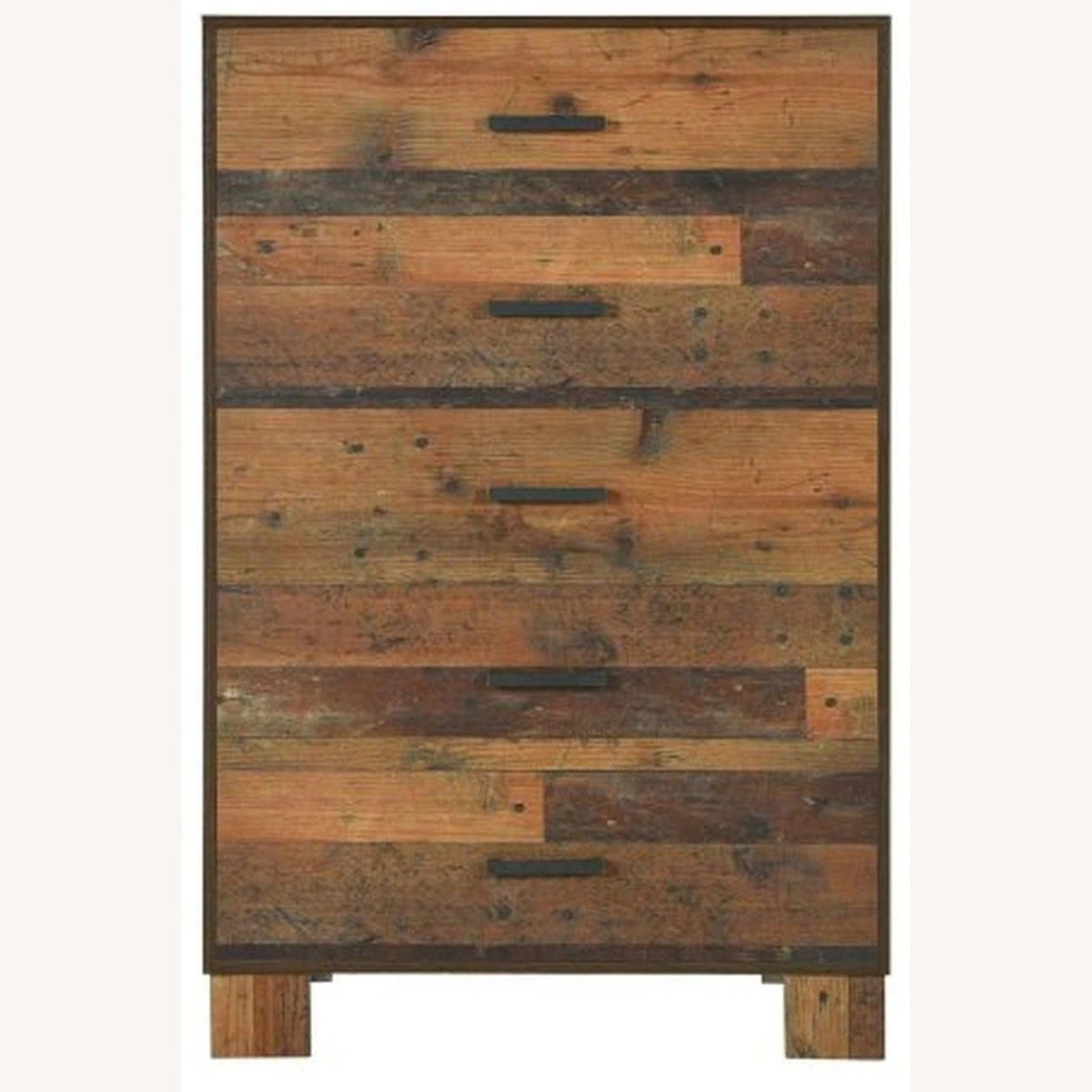 Chest In Rustic Pine Finish w 5 Drawer - image-0