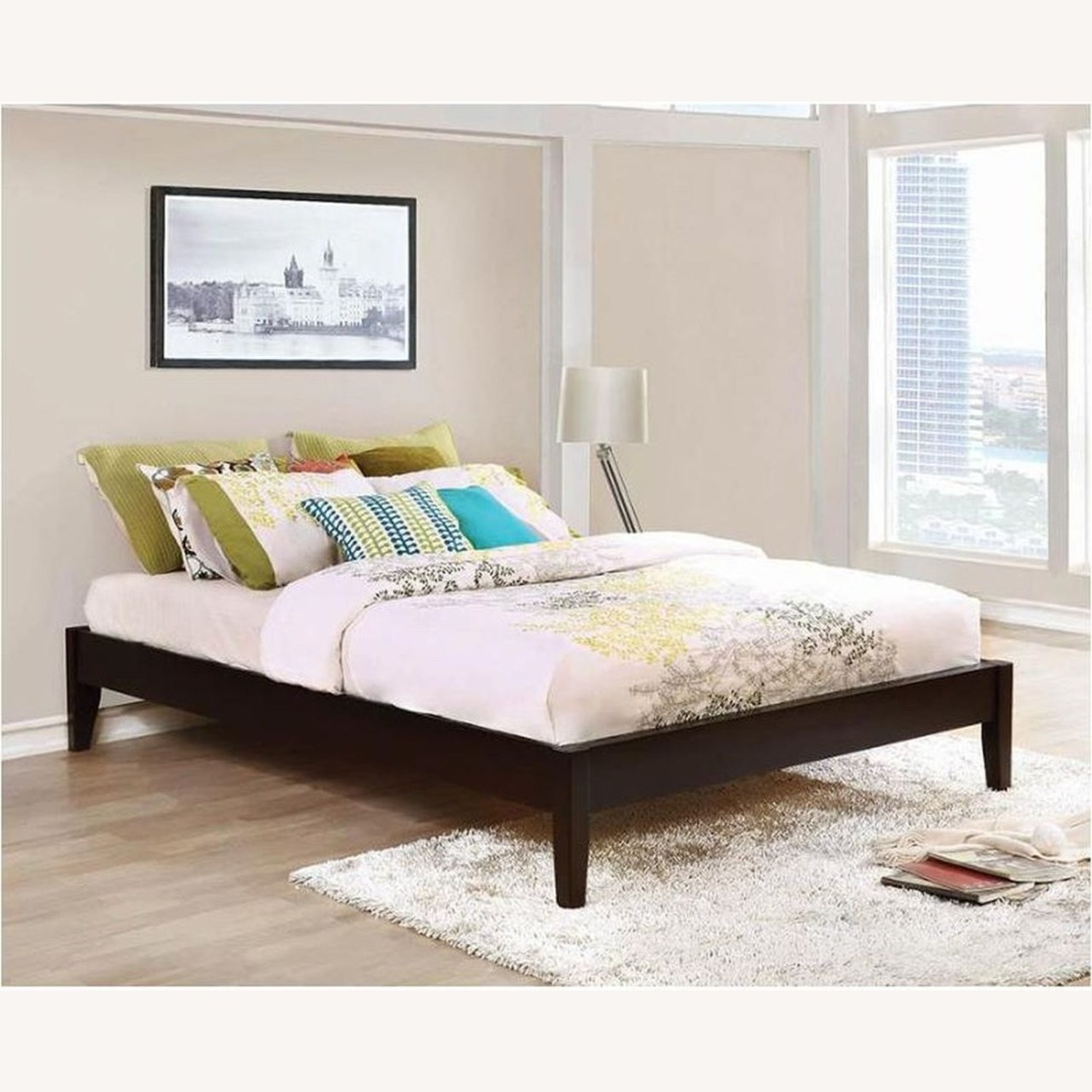 Universal Platform Queen Bed In Cappuccino Finish - image-2