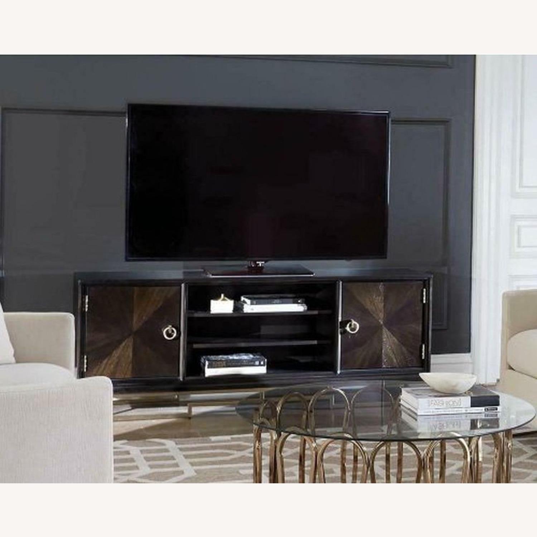 Modern TV Console In Americano Finish - image-2