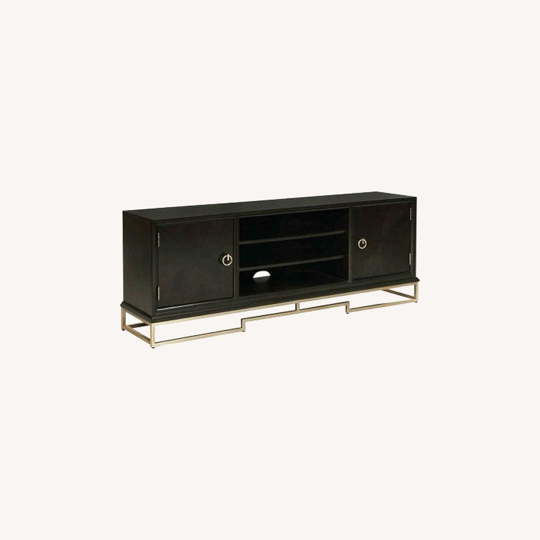 Modern TV Console In Americano Finish - image-3