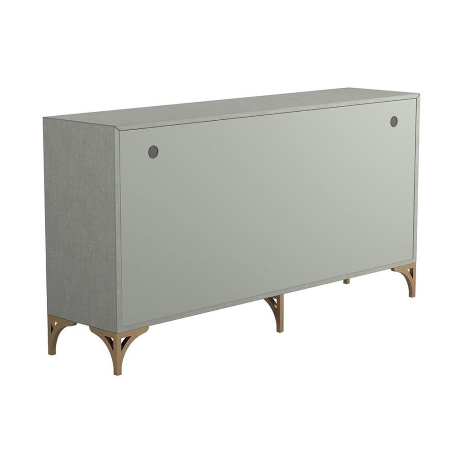 Contemporary Accent Cabinet In Grey Green Finish - image-3