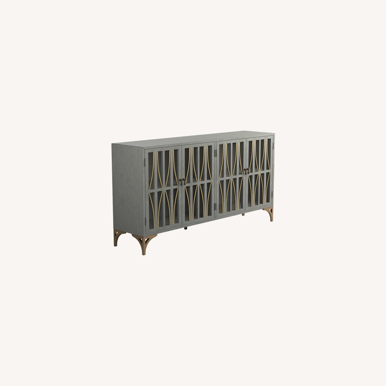 Contemporary Accent Cabinet In Grey Green Finish - image-5