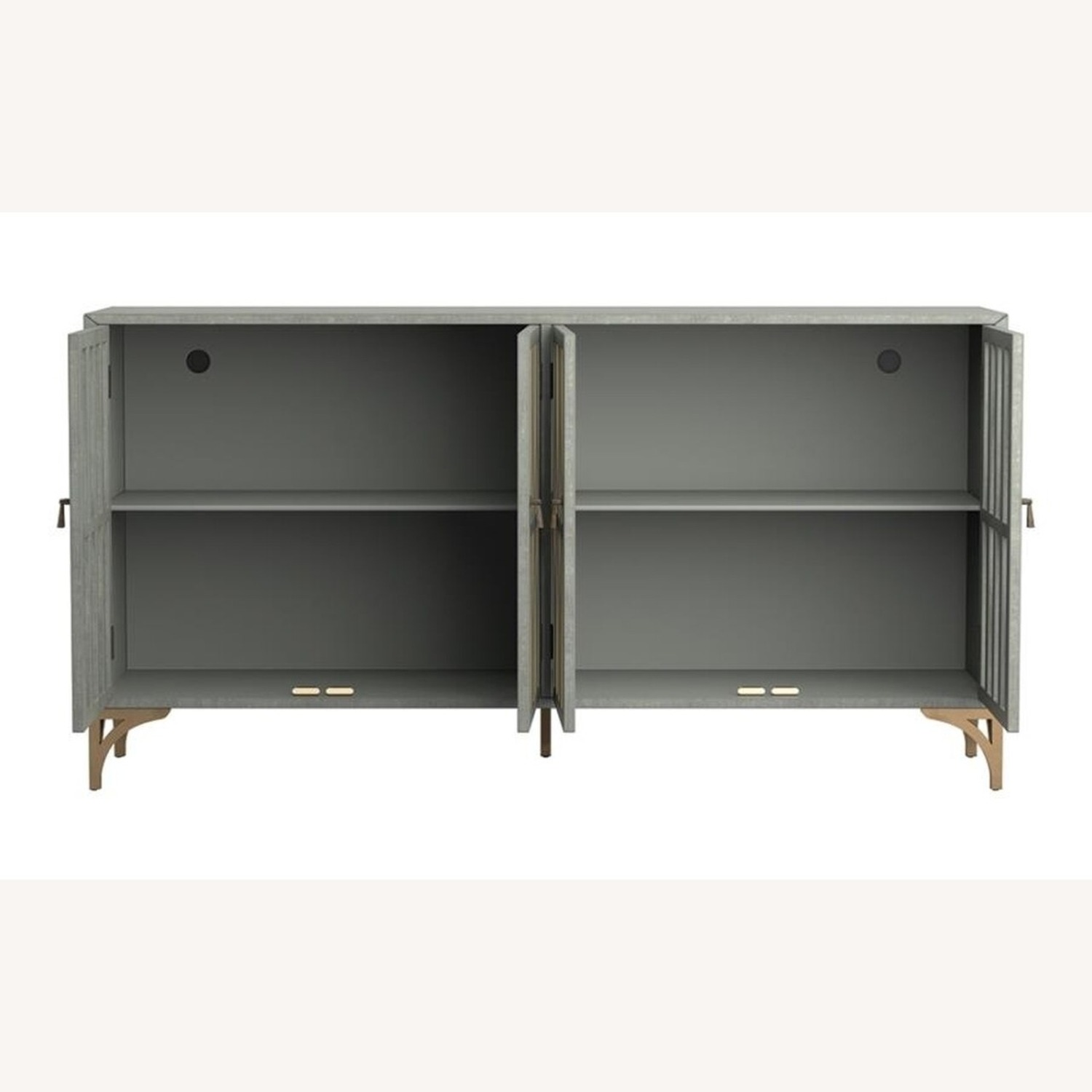 Contemporary Accent Cabinet In Grey Green Finish - image-2