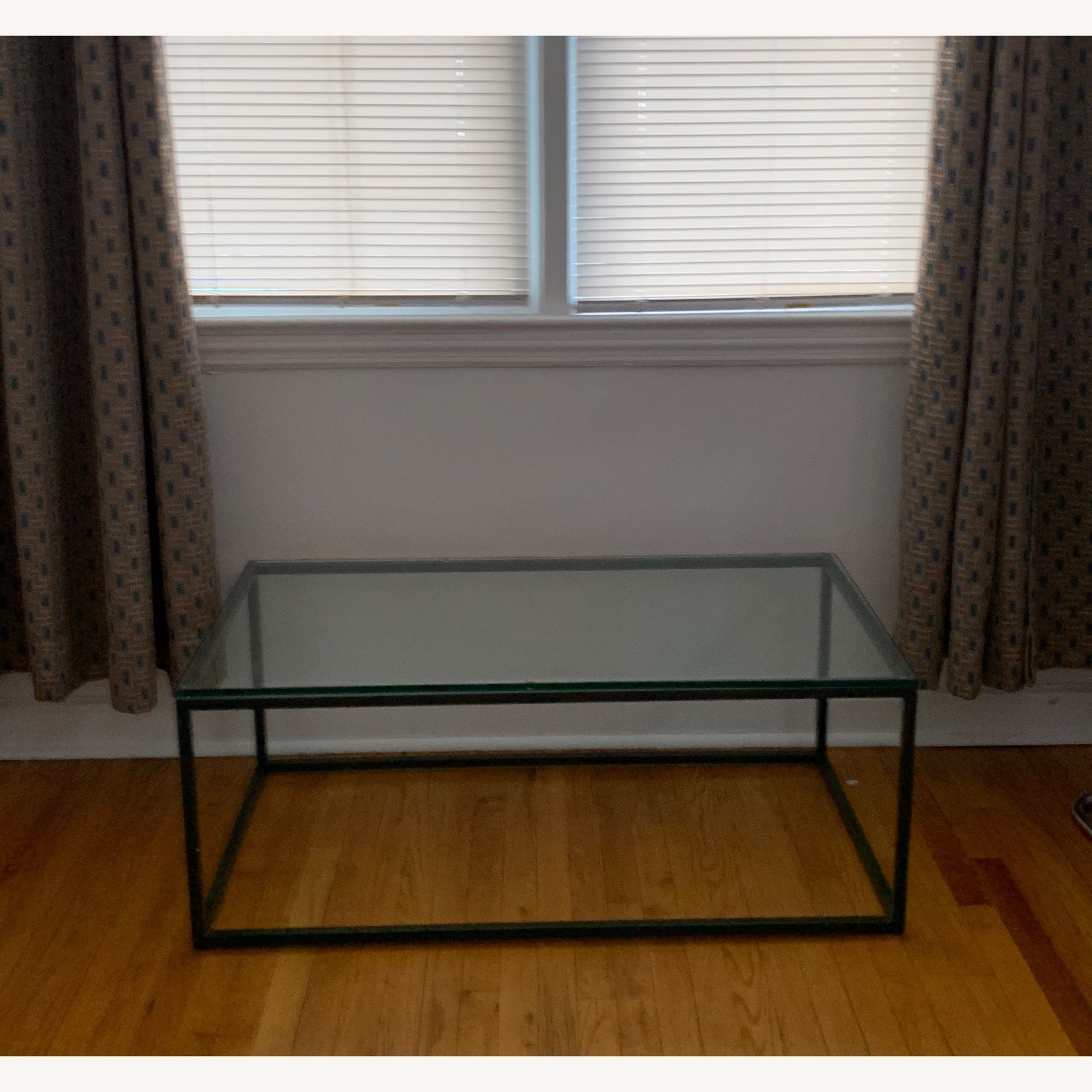 AllModern Metal Framed Glass Coffee Table - image-2