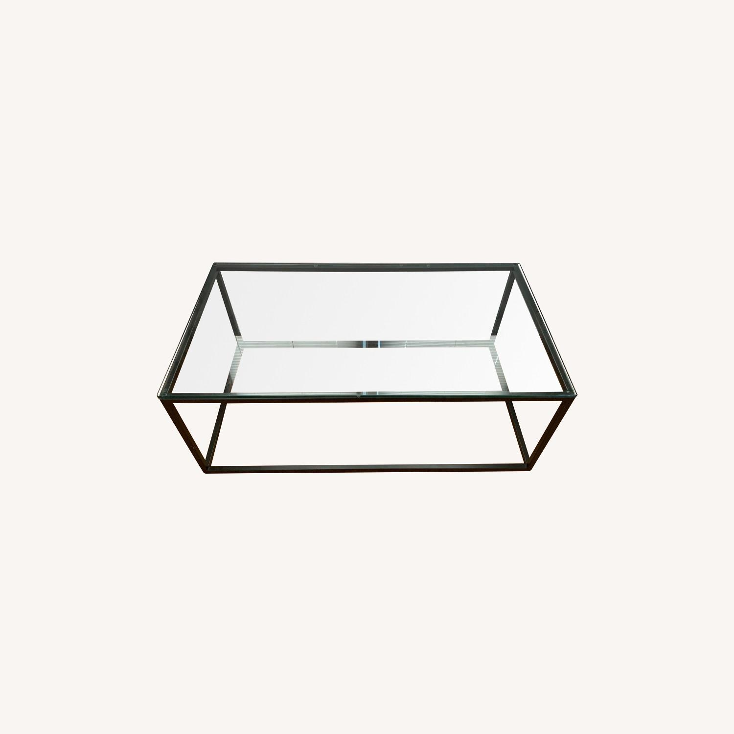 AllModern Metal Framed Glass Coffee Table - image-0