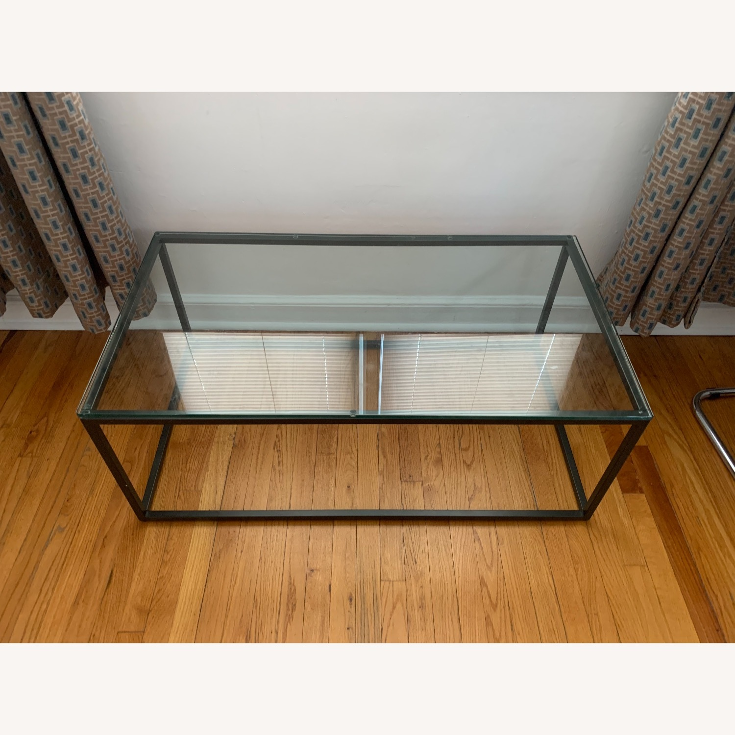 AllModern Metal Framed Glass Coffee Table - image-1