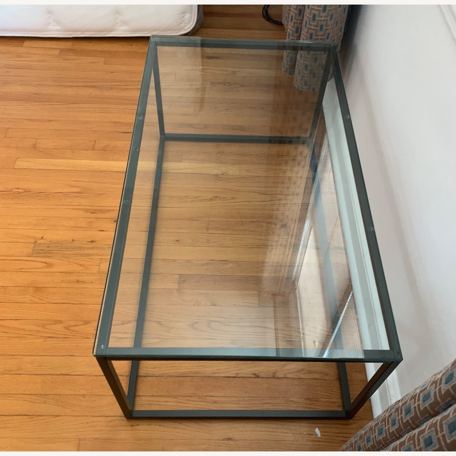 AllModern Metal Framed Glass Coffee Table - image-3