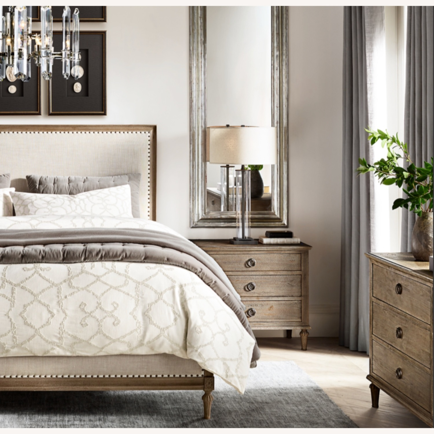 Restoration Hardware Maison Fabric Queen Bed - image-2