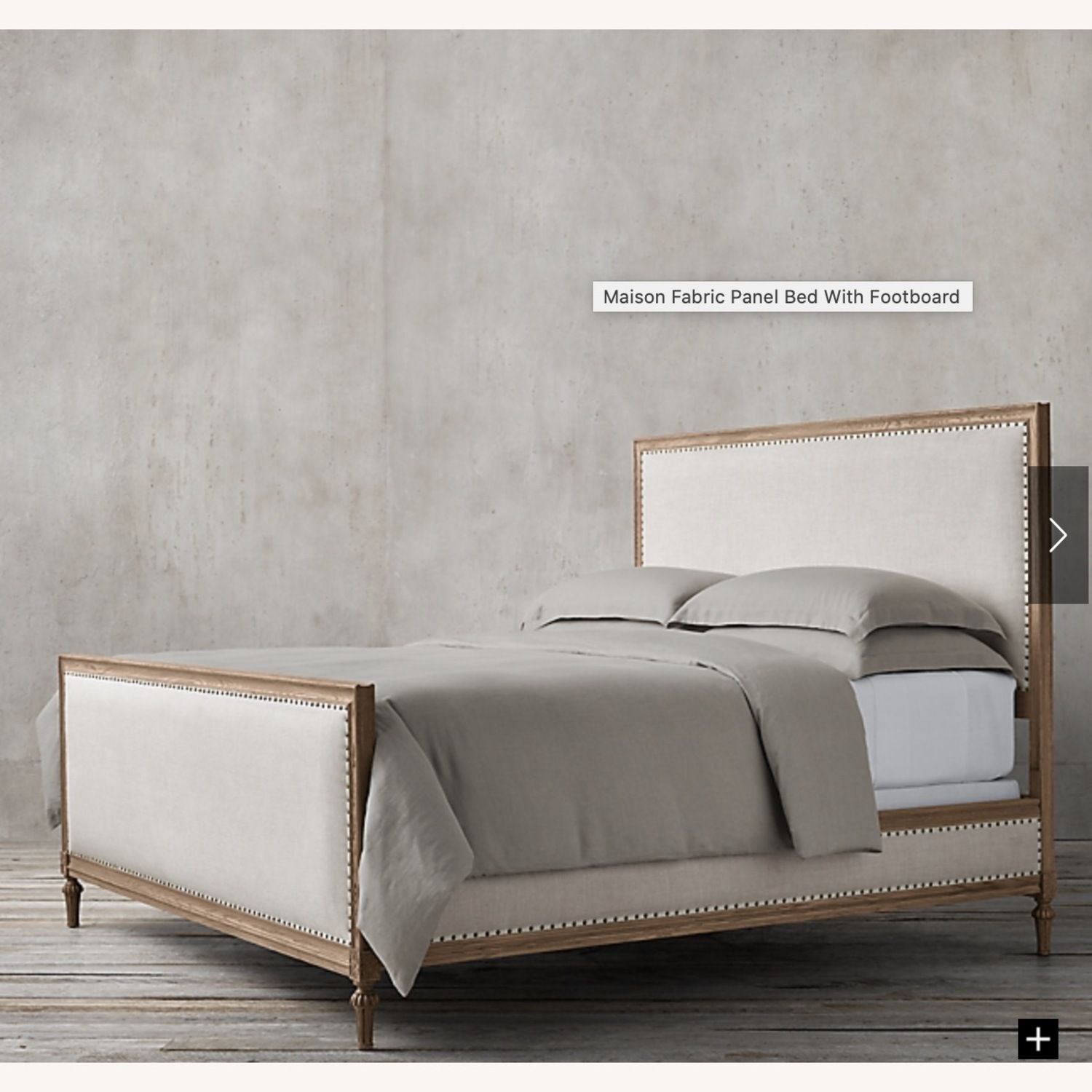 Restoration Hardware Maison Fabric Queen Bed - image-3