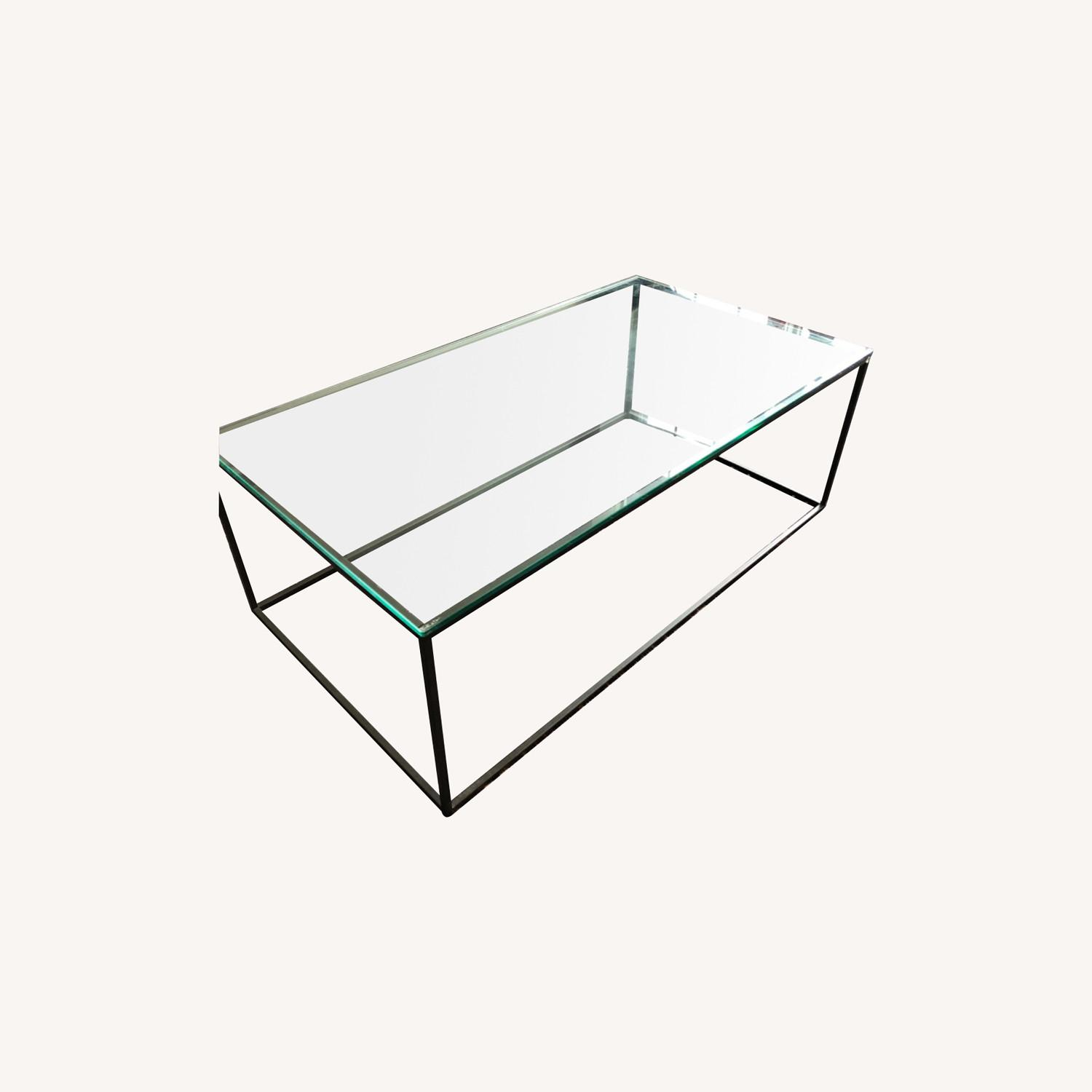 West Elm Streamline Coffee Table - Glass/Metal - image-0