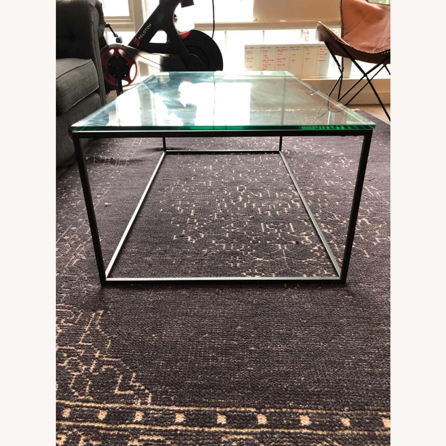 West Elm Streamline Coffee Table - Glass/Metal - image-3