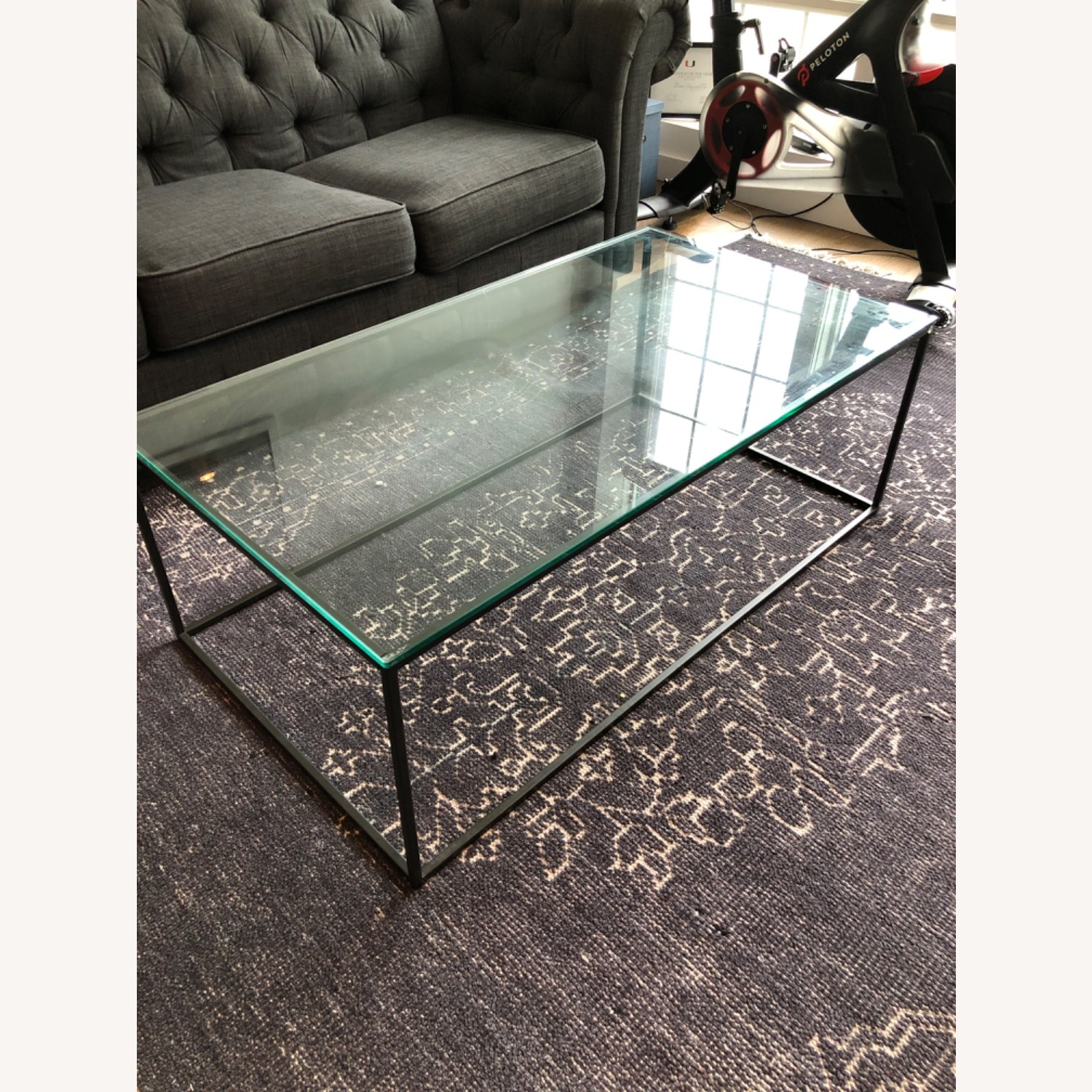 West Elm Streamline Coffee Table - Glass/Metal - image-2