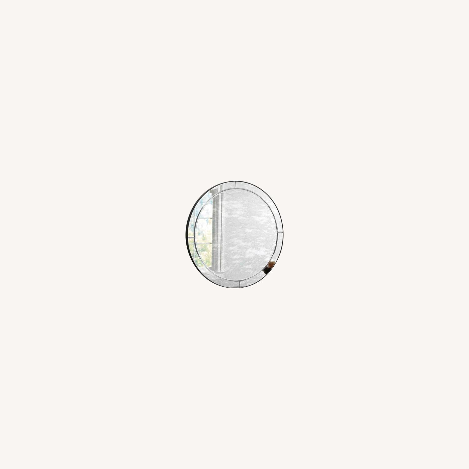 Pottery Barn Walker Antiqued Round Glass Mirror - image-0