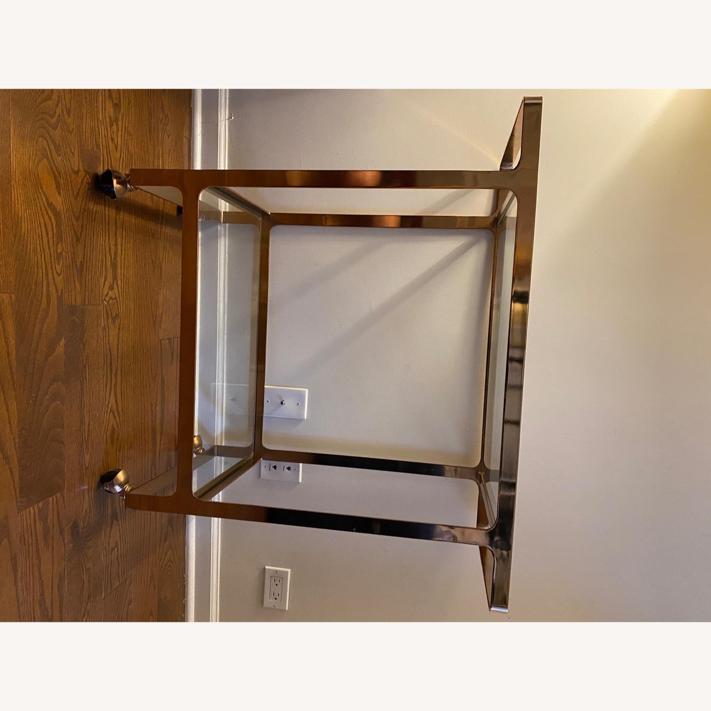 CB2 Rose Gold Metal Bar Cart - image-2