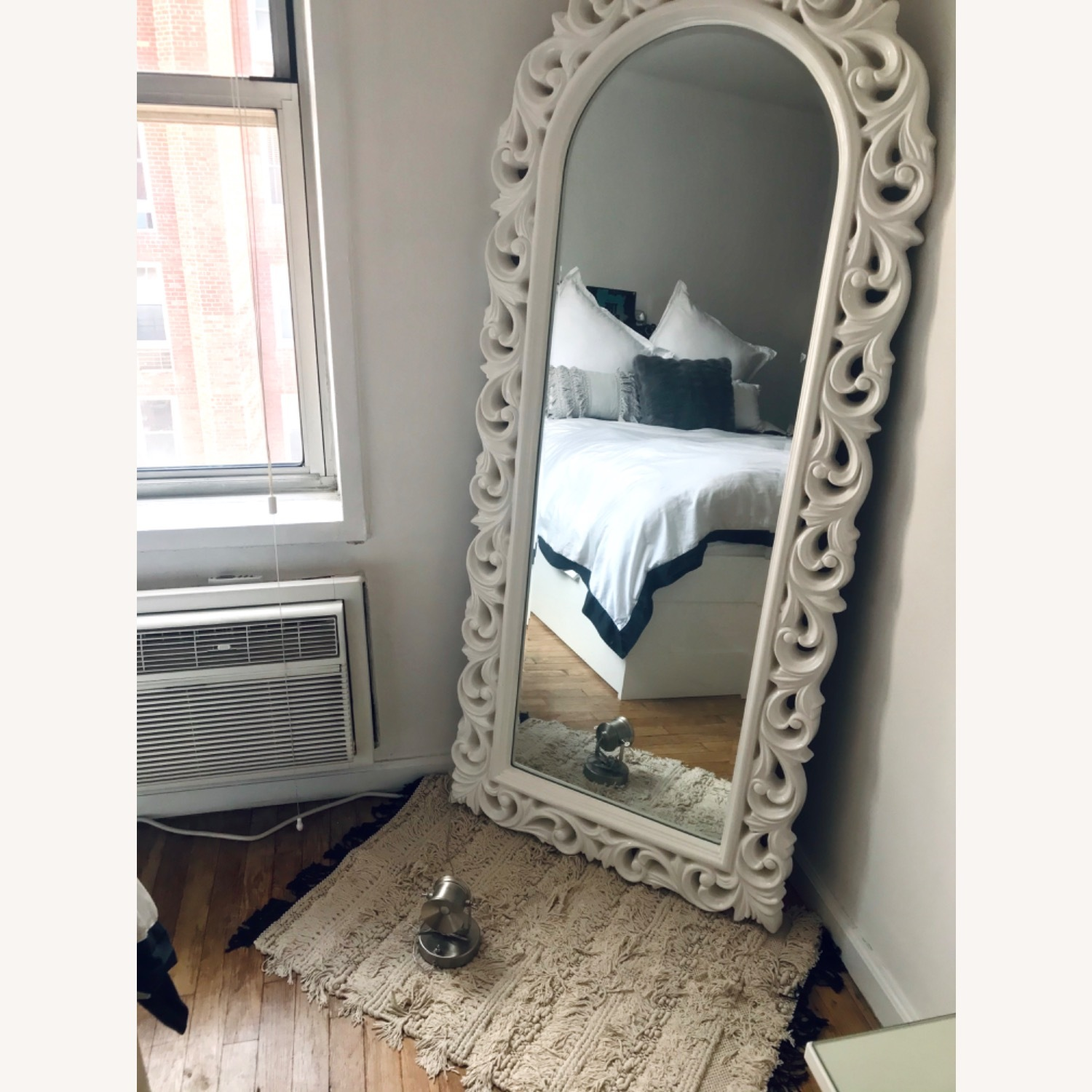 Antique Leaning Mirror - image-1